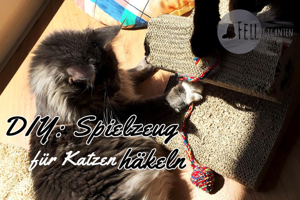 Diy Katzenspielzeug Häkeln Baldrianbälle Mit Schnur Fellgiganten