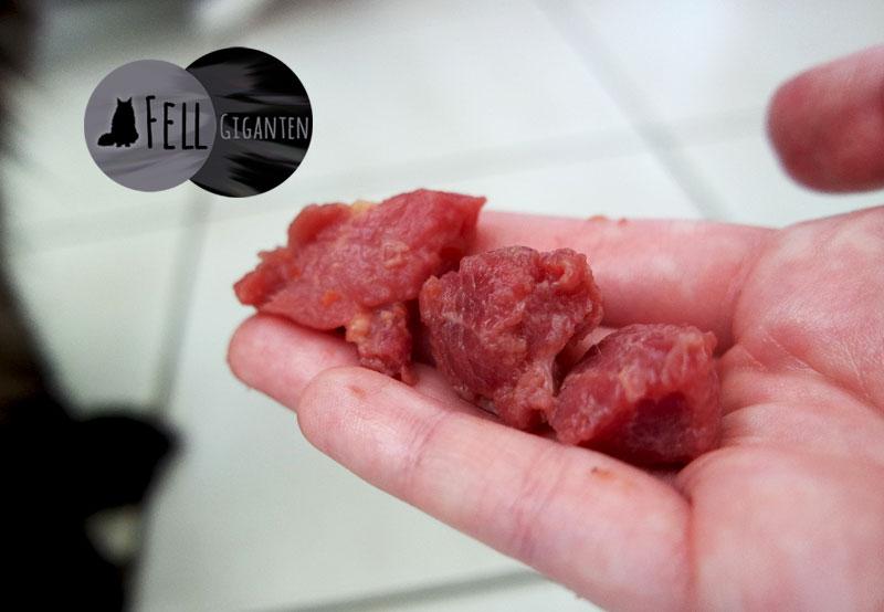 Fleischstücke im Fix-BARF