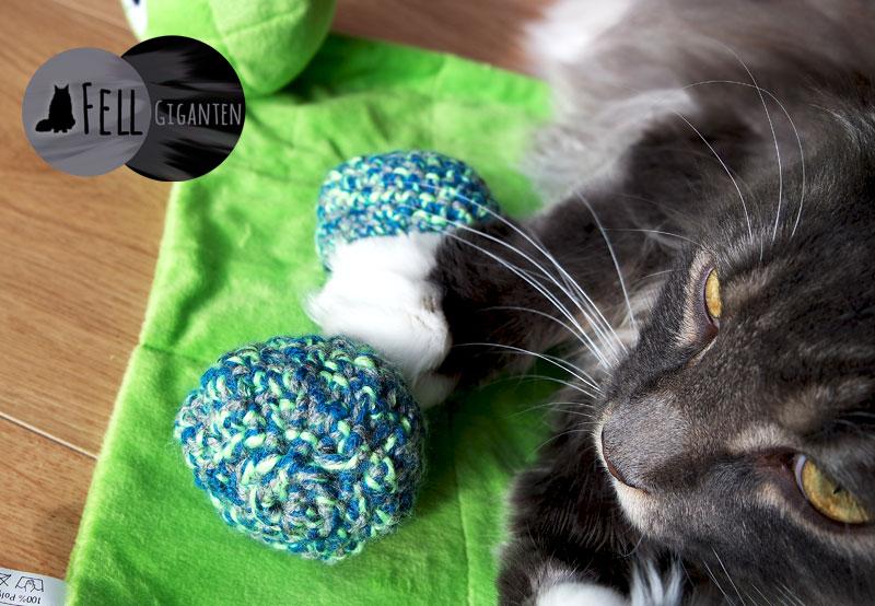 Katzenspielzeug häkeln
